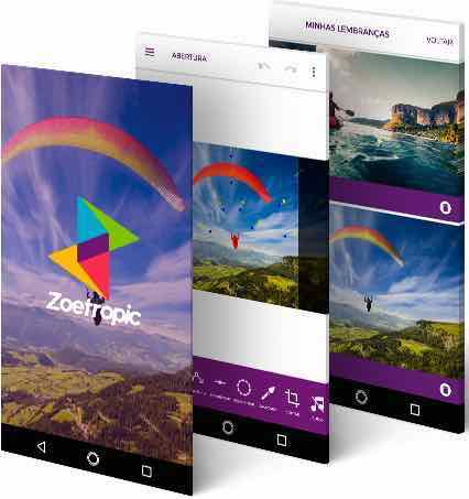 aplicativo mobile android nativo do Zoetropic